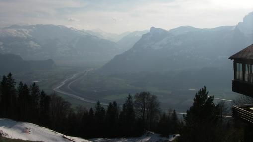 Mozelio upės panorama Lichtenšeine