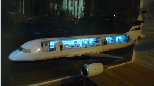 Privataus reaktyvinio lėktuvo maketas Moanke