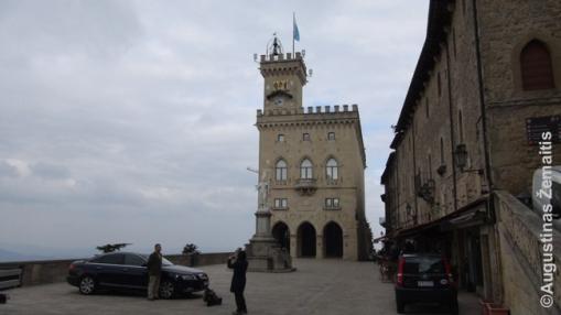San Marino mikrovalstybės centrinė aikštė