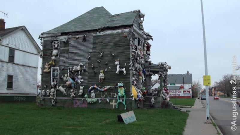 Meno projektu virtęs sugriuvęs namas Detroite. Neužilgo po mūsų apsilankymo jis sudegė (padegtas)