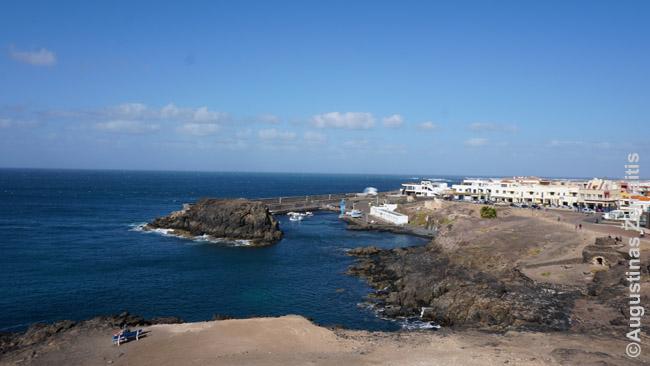 Fuerteventuros pakrantė El Cortillo miestelyje