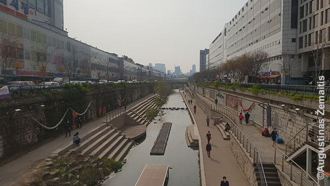 Pasivaikščiojimai Dongdaemun drabužių turgaus zonoje