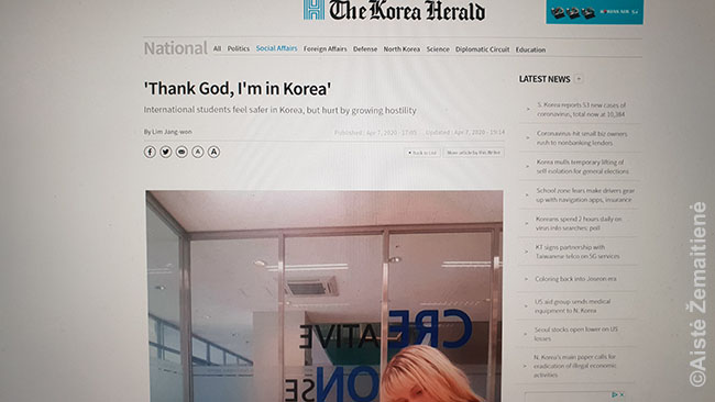 Korea Herald vedamasis