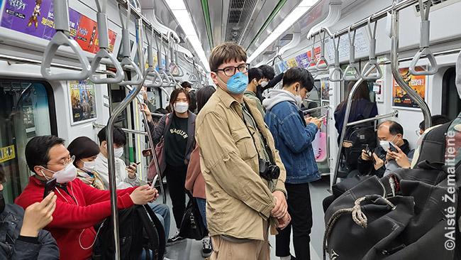 Kaukėtame Seulo metro