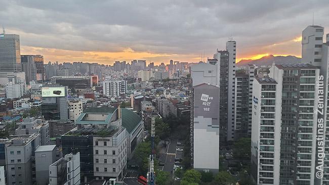 Jau toks įprastas vaizdas pro buto langą Seule, kad net neįtikėtina, kad jį teks palikti