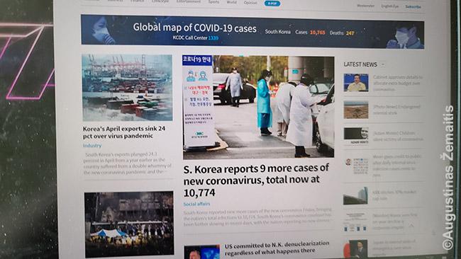 TIk devyni nauji koronaviruso atvejai visoje 50 mln. gyventojų Pietų Korėjoje