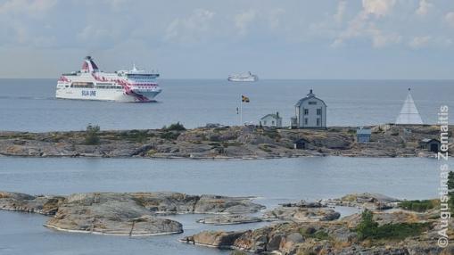 Baltijos keltai atplaukia į Mariehamno uostą Alanduose