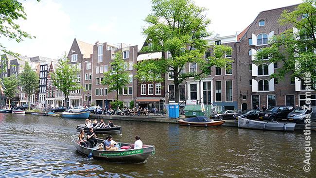 Ekskursijos Amsterdamo kanalais