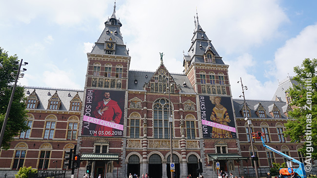 Amsterdamo nacionalinio muziejaus 1885 m. statytas didingas pastatas