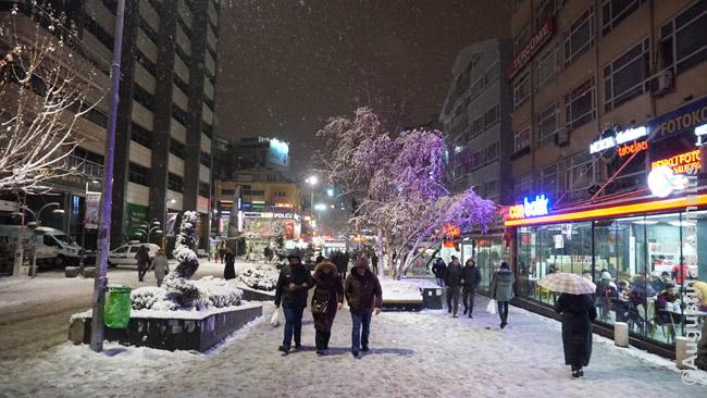 Viena centrinių Ankaros gatvių vakare