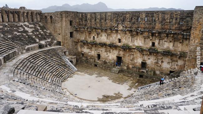 Aspendoso teatras nuo jo viršaus