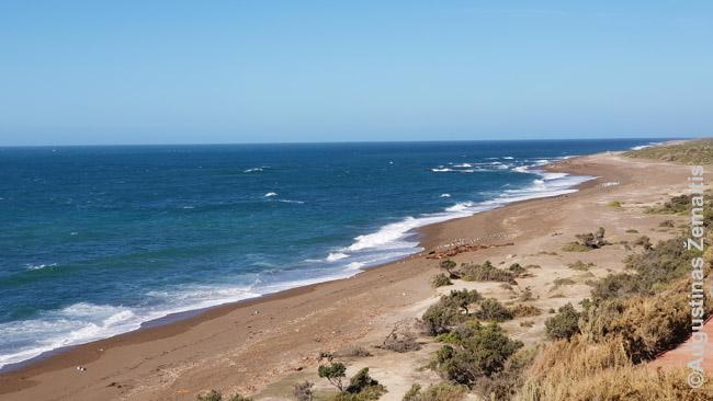 Paplūdimys Argentinoje