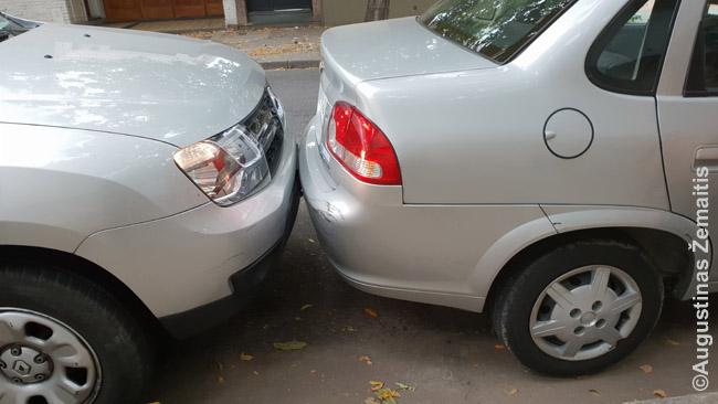 Savo automobilį galėdavome rasti ir štai taip