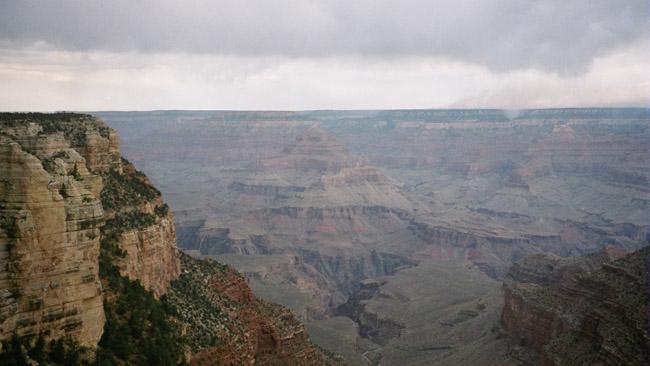 Didžiojo kanjono vaizdas nuo vieno kraštų