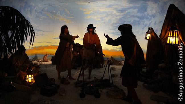 Diorama (su garsu) Nasau Piratų muziejuje