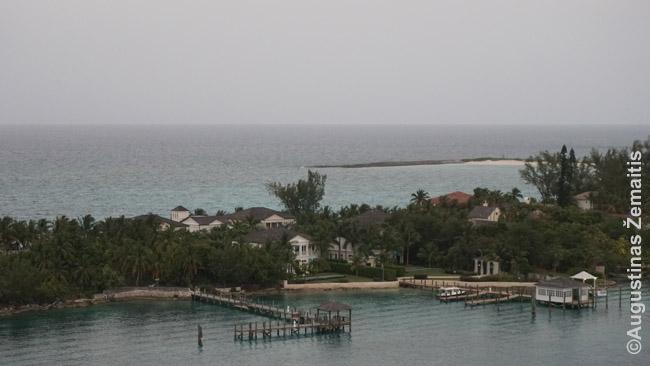 Turtuolių vilos Nasau Rojaus salos gale