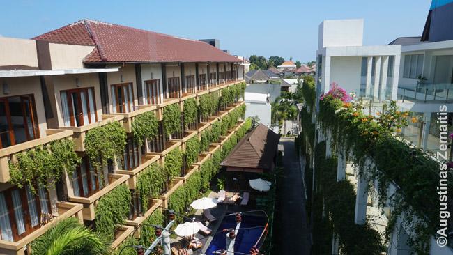 Poilsio kompleksas su viešbučio kambariais ir butais Legiane