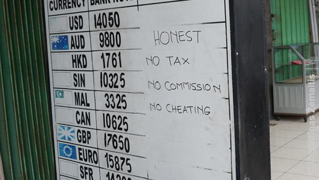'Jokių mokesčių', 'Jokių komisinių', 'Jokių apgavysčių' - skelbiasi Balio pinigų keitėjas. Išties jų nebuvo.