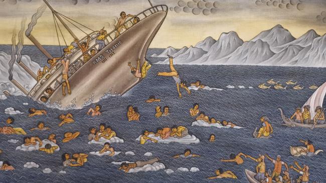 Titaniko katastrofa balietišku stiliumi