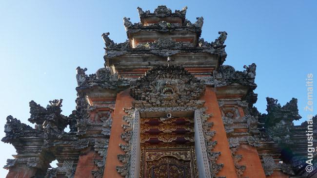 Sarasvati šventyklos vartai Ubude