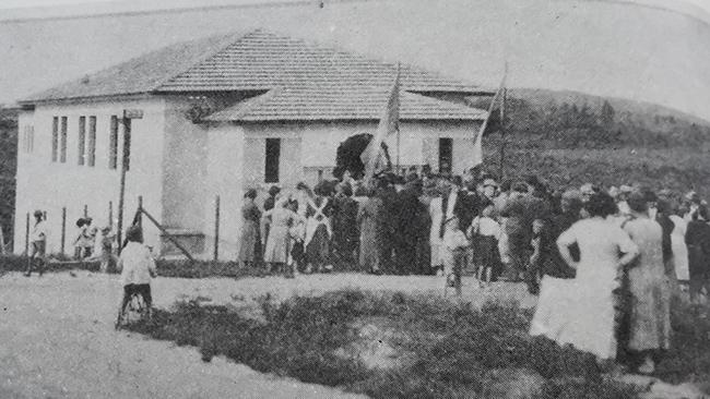 Istorinė tikriausiai neišlikusios Parque Das Nacoes lietuvių mokyklos nuotrauka - tarp tų, kurias skaitmenizavomės pas Klaudijų