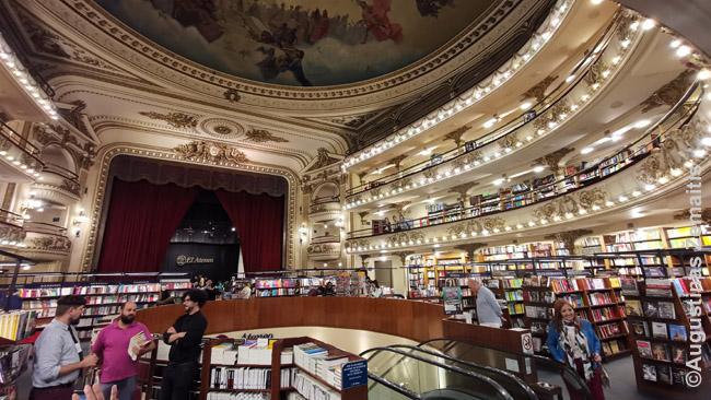Vienas senųjų Buenos Airių teatrų virto knygynu El Ateneo Grand Splendid