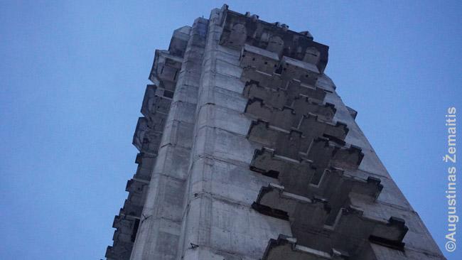 Nebaigtas statyti pašto bokštas iš arčiau