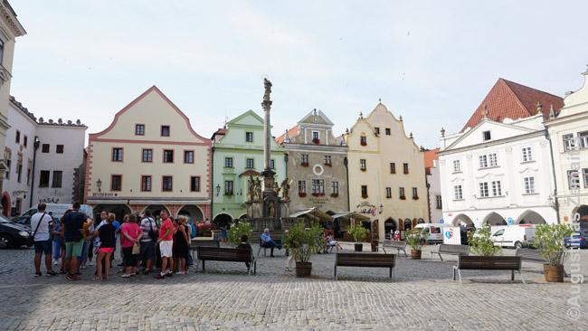 Centrinė Česky Krumlovo aikštė