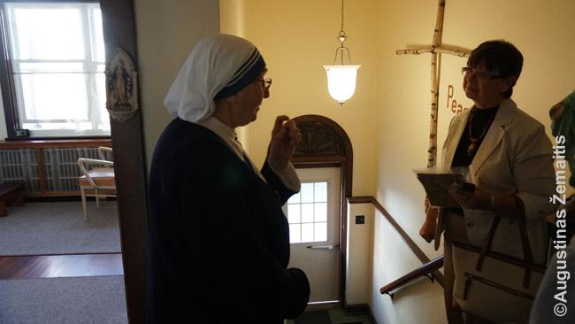 Nelietuvė vienuolė buvusiame Mahanojaus lietuvių vienuolyno pastate nustebo sužinojusi, kad buvęs vienuolynas tame pastate buvo lietuvių