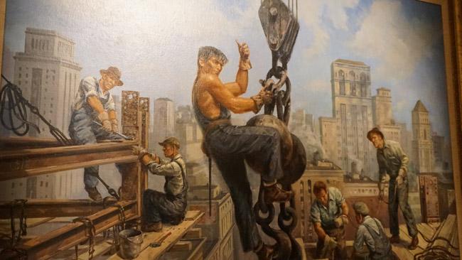 Paveikslas - Amerikos dangoraižių statytojai