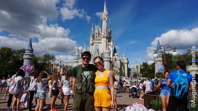 Mes prie Pelenės pilies - Magijos karalystės (Magic Kingdom) simbolio