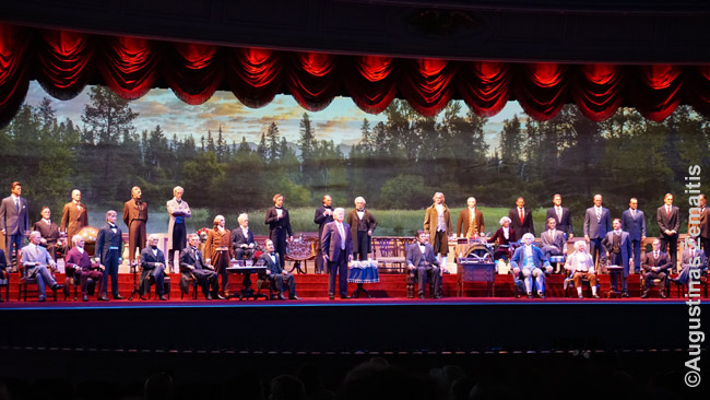 Animatroniniai visi JAV prezidentai 'The Hall of Presidents' atrakcione-spektaklyje