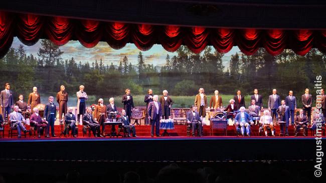 Animatroniniai visi JAV prezidentai 'The Hall of Presidents' atrakcione-spektaklyje
