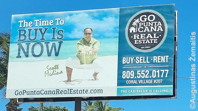 Butų reklama Punta Kanoje