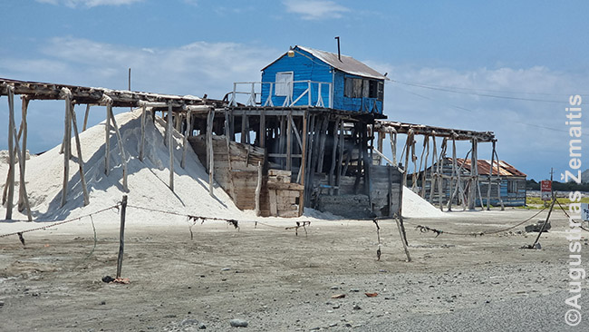 Salinas druskos kasyklos link Haičio