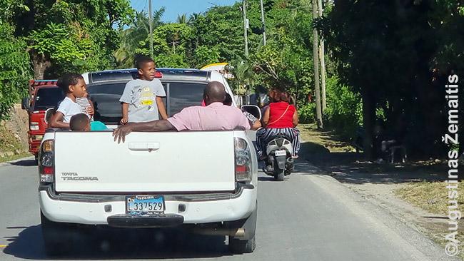 Tipinis vietinių keliavimo būdas Dominikos Respublikoje