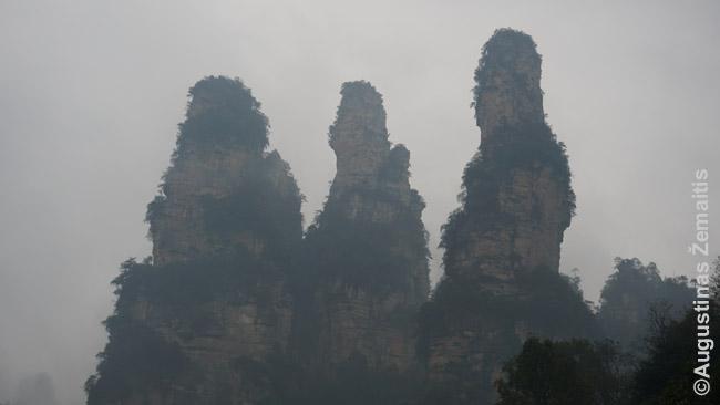 Trys seserys - vienos garsiausių Džangdziadzie uolų