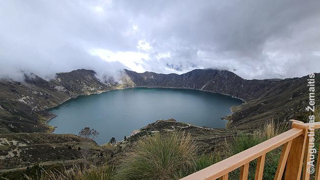 Kilotoa ežeras - viena garsiausių Ekvadoro Andų lankytinų vietų