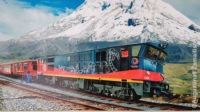 Turistinio Ekvadoro traukinio paveikslas