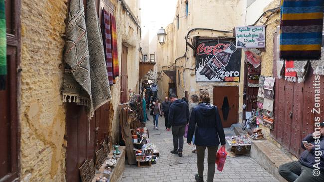 Centrinė Feso medinos gatvė