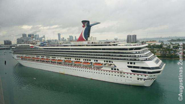 Kruizinis laivas išplaukia iš Majamio