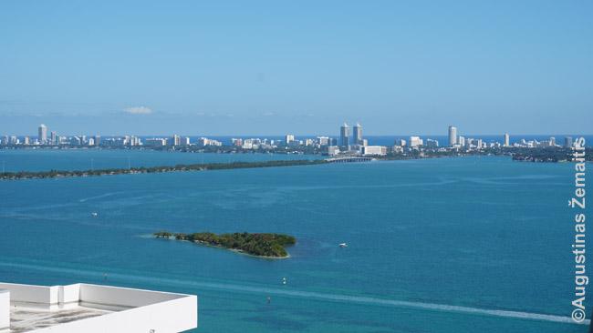 Miami Beach nerija žvelgiant iš Majamio centro