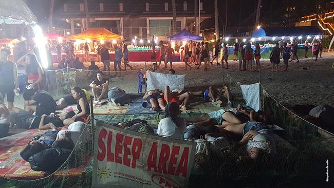 Vakarėlio miego zona