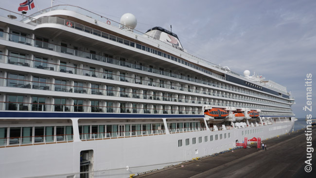 Šiandien prie krantinės, kur švartuodavosi emigrantus į Ameriką gabendavę laivai, į Trimiestį turistus išlaipina kruiziniai laivai