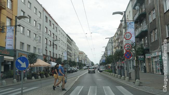 Pagrindinė Gdynės Swętojanska gatvė