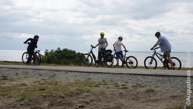 Helo Nerijos marių pakrantėje - ilgas dviračių takas