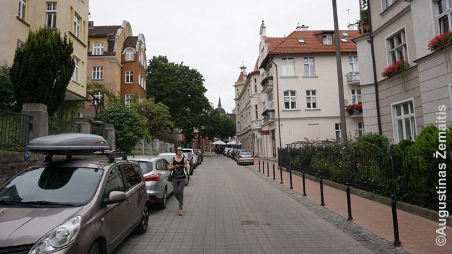 Viena ramių šoninių Sopoto gatvių