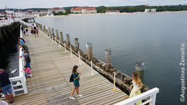 Fotografijos ant Sopoto jūros tilto
