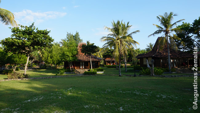 Nuomojamų namelių kompleksas Gilio Travangano vakarinėje pakrantėje