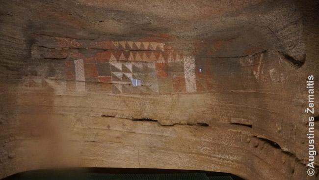 Kueva Pintada gvančų piešiniai Gran Kanarijoje